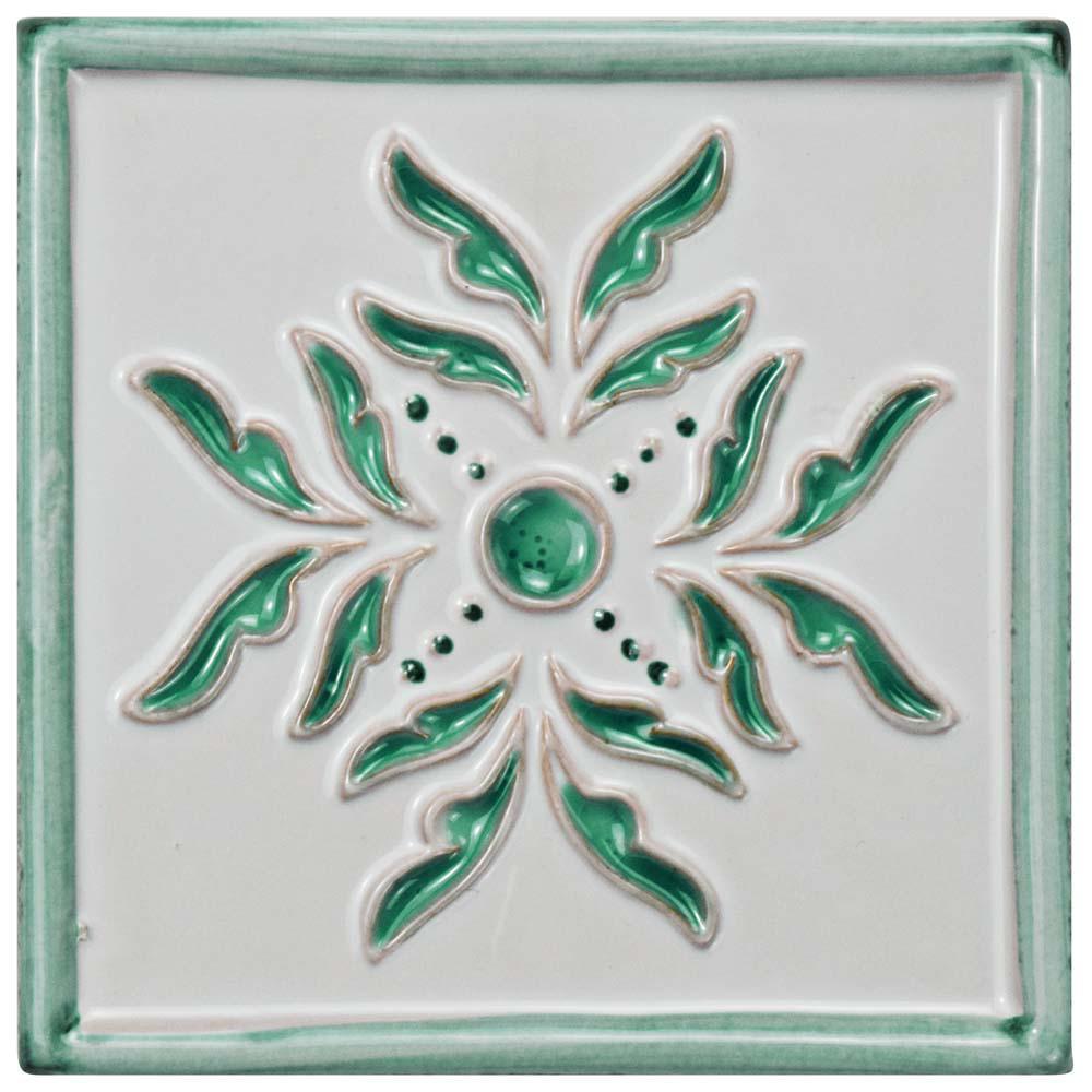 Novecento Taco Evoli Aguamarina 5-1/4 in. x 5-1/4 in. Ceramic Wall Tile