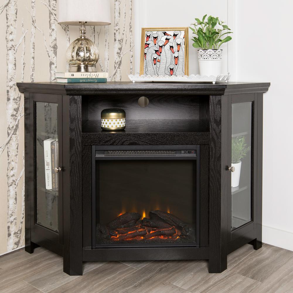 Black Fire Place Entertainment Center. Walker Edison Furniture ...