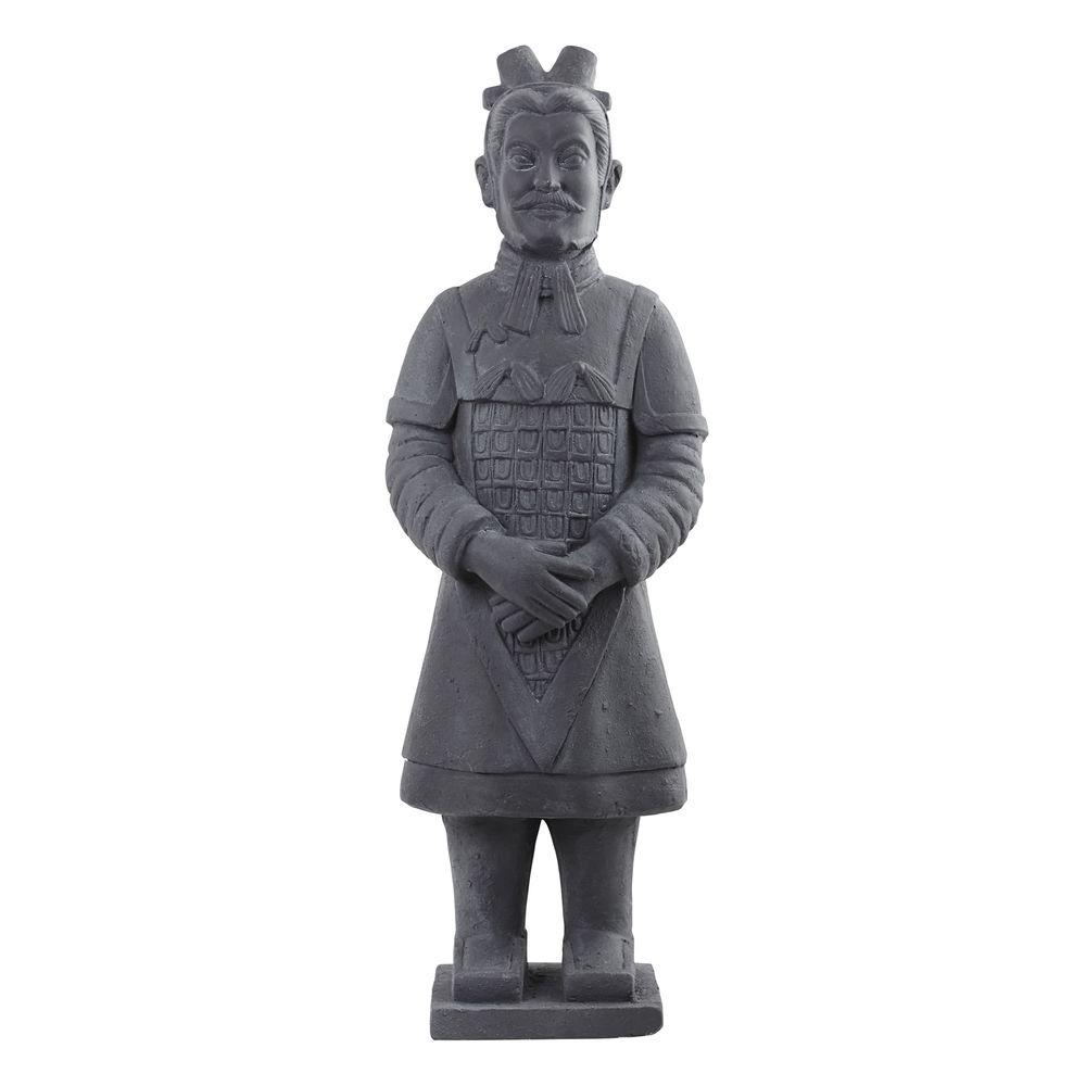 Nearly Natural 40 in. Warrior Statue, Grey