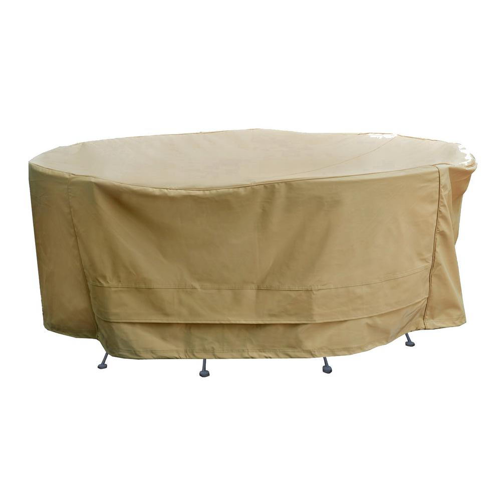 Seasons Sentry Round Table And Chair Set Cover Cvp01426 The Home Depot