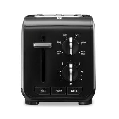 Expert Toast 900 W 2-Slice Black and Stainless Steel Wide Slot Toaster