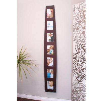 nexxt Summit 7-Opening 5 in. x 7 in. Espresso Floor Standing or Wall Collage Picture Frame