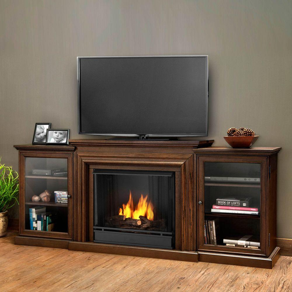 Frederick Entertainment 72 in. Media Console Ventless Gel Fuel Fireplace in