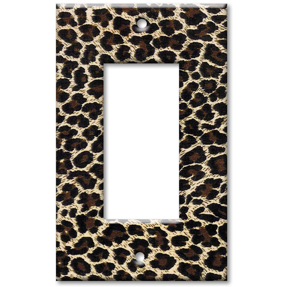 Art Plates Leopard Print Oversize Rocker Wall Plate