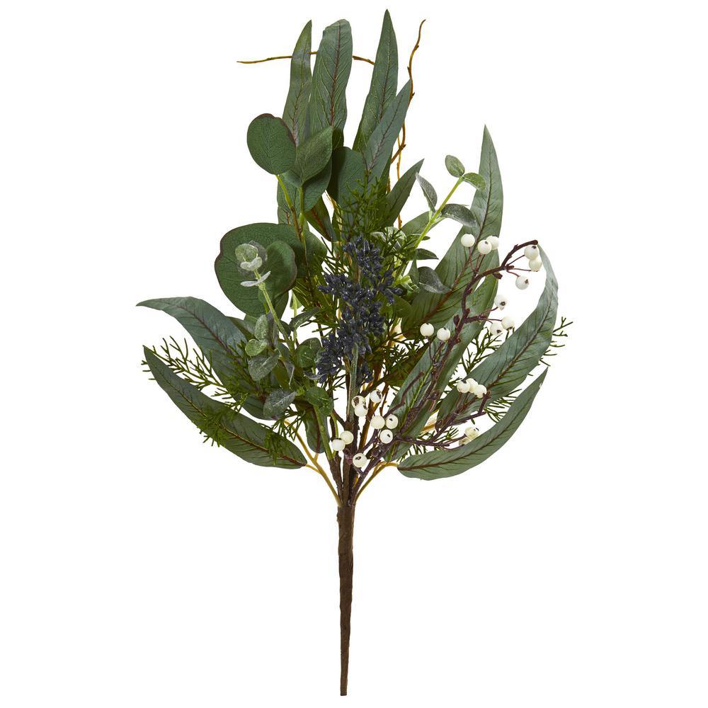 Indoor 18 Eucalyptus Pick Artificial Plant (Set of 6)