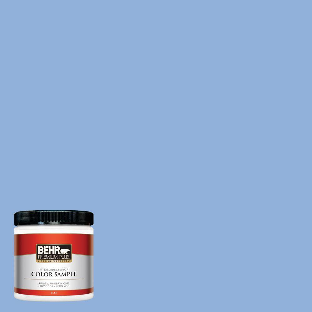 580b 5 Cornflower Blue Flat Interior Exterior Paint And Primer In One Sample