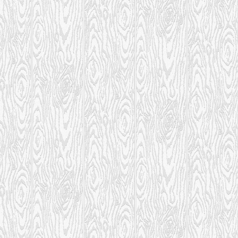 Martha Stewart Living 56 sq. ft. 1 Double Roll Faux Bois Paintable Wallpaper