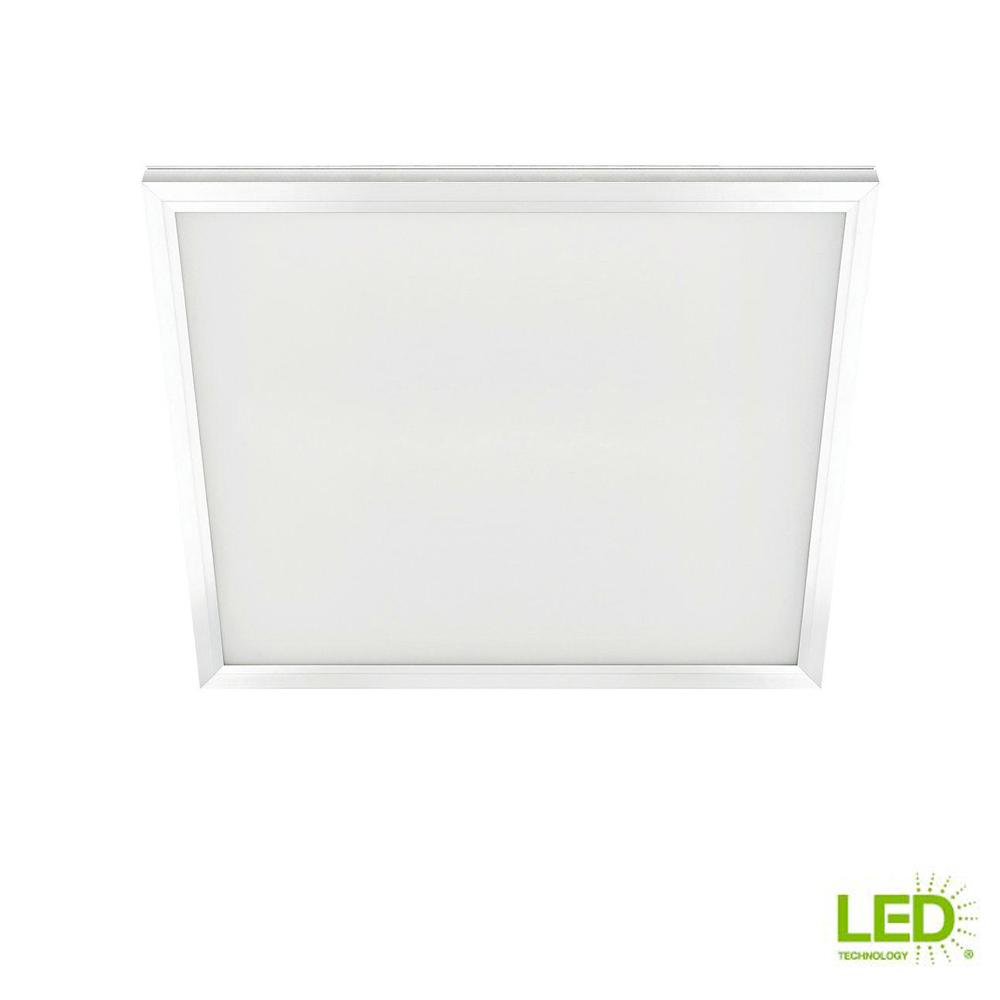 Commercial Electric 2 Ft X 2 Ft 48w White Integrated Edge