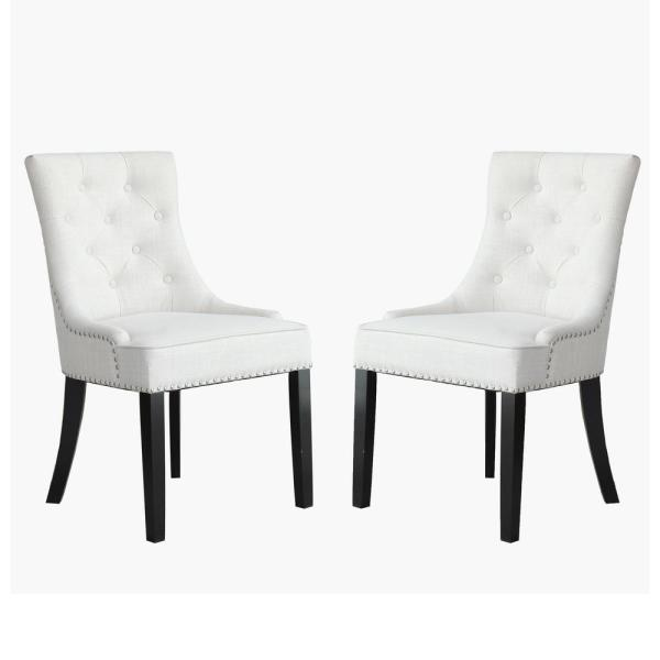 Toulon Beige Cushion Accent Dining Chair (Set of 2)