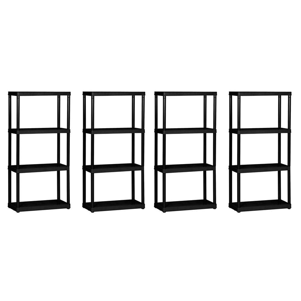 4-Tier Shelf Light Duty Garage Storage Shelving Unit (4-Pack)