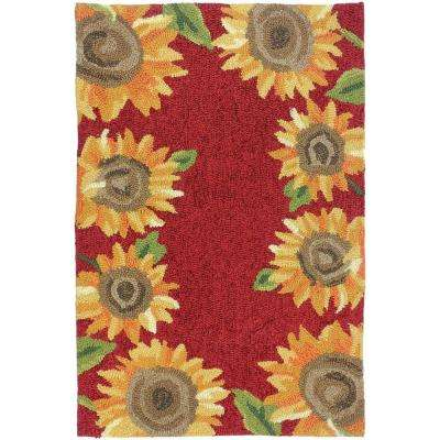 Hand Hooked High Pile Outdoor Rugs Rugs The Home Depot