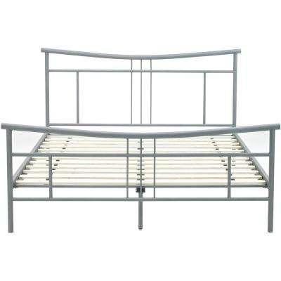 Chelsea Matte Nickel Metal Full Platform Bed