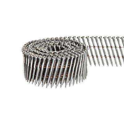 2-1/4 in. x 1/8 in. 15-Degree Wire Coil Square Head Nail Screw Fastener (2,000-Pack)