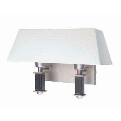 2-Light Satin Steel Wall Lamp