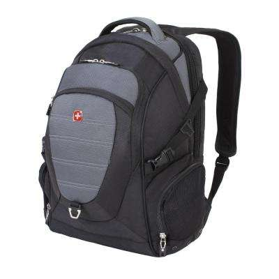 18.5 in. Black and Grey Computer Backpack