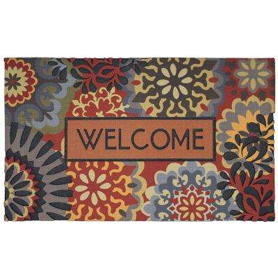 Dimensional Scatter Multi 18 in. x 30 in. Door Mat