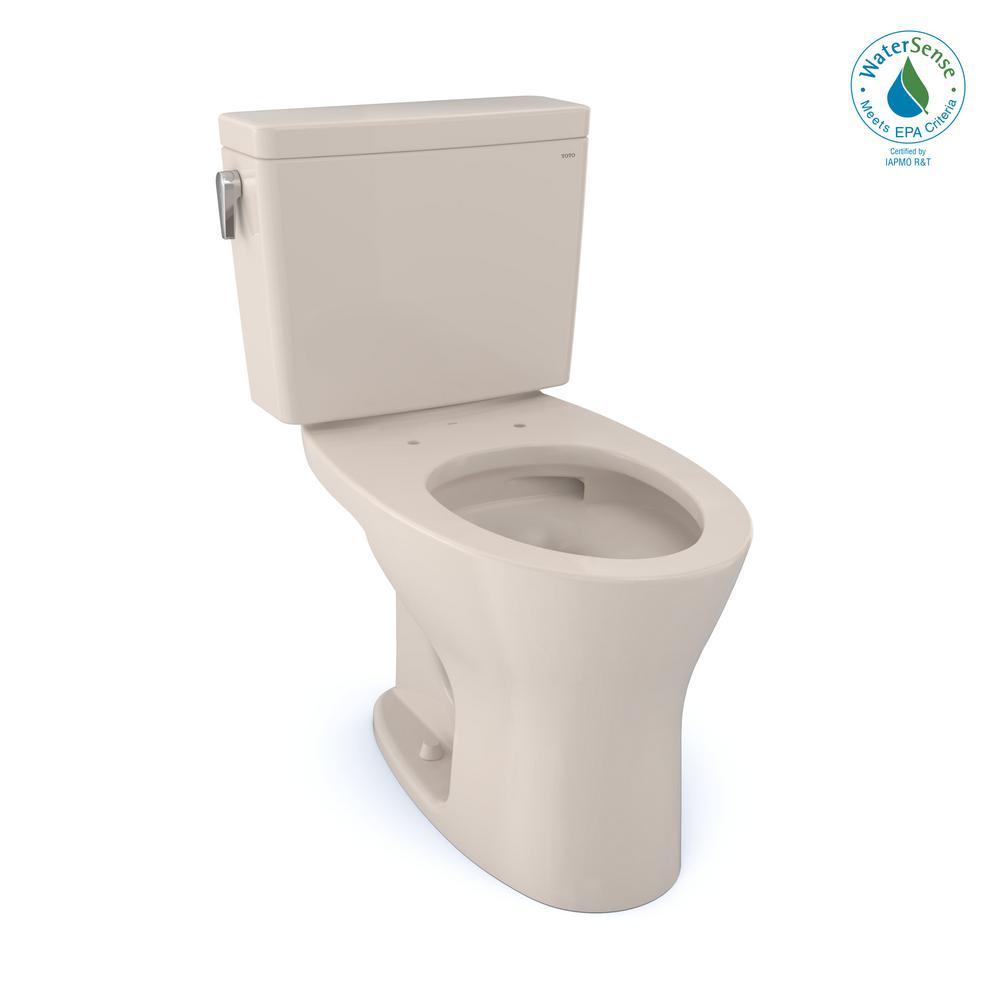 Drake 1G 2-Piece 1.0 GPF and 0.8 GPF Dual Flush Elongated Universal Height DYNAMAX TORNADO Flush Toilet in Sedona Biege