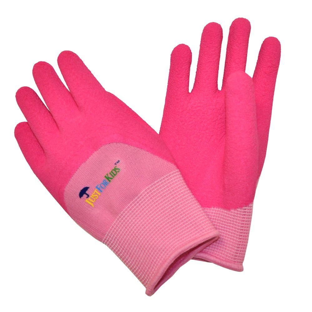 G & F Products JustForKids Premium Pink MicroFoam Texure Coating Kids All Purpose Gloves