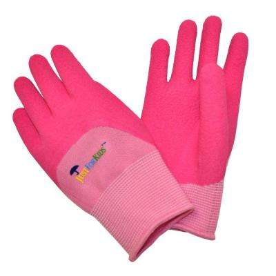 Justforkids Premium Pink Microfoam Texure Coating Kids All Purpose Gloves
