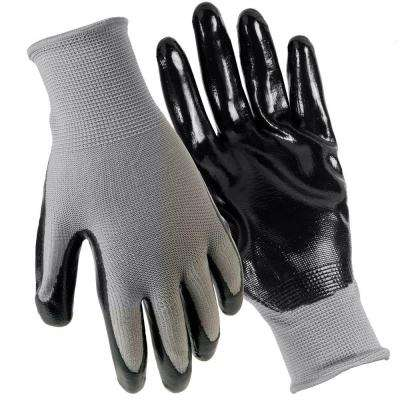Nitrile Coated Large Gloves