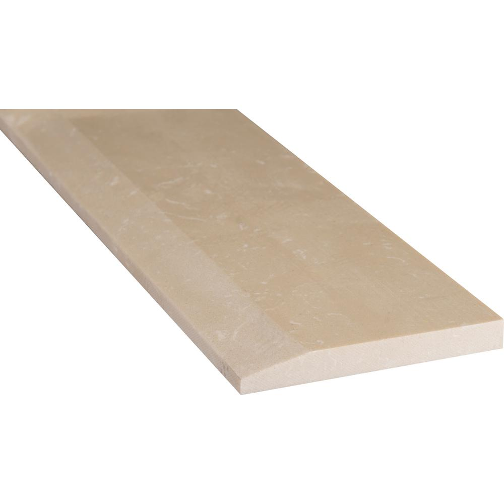 MSI Beige Hollywood Style 5 in. x 30 in. Engineered Marble Threshold Floor and Wall Tile