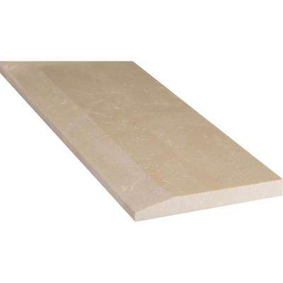 Beige Hollywood Style 5 in. x 30 in. Engineered Marble Threshold Floor and Wall Tile