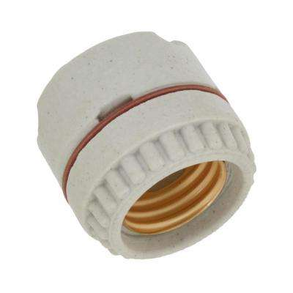 660W Medium Base Two-Piece Single Circuit Keyless Ring-Type Unglazed Porcelain Incandescent Lampholder, White