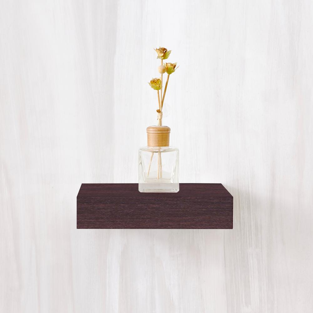 Way Basics Amalfi 10 in. x 2 in. zBoard  Wall Shelf Decorative Floating Shelf in Espresso Wood Grain