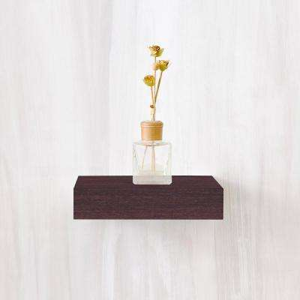 Amalfi 10 in. x 2 in. zBoard  Wall Shelf Decorative Floating Shelf in Espresso Wood Grain
