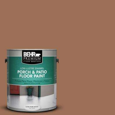 1 gal. #S210-6 Cinnamon Crunch Low-Lustre Porch and Patio Floor Paint