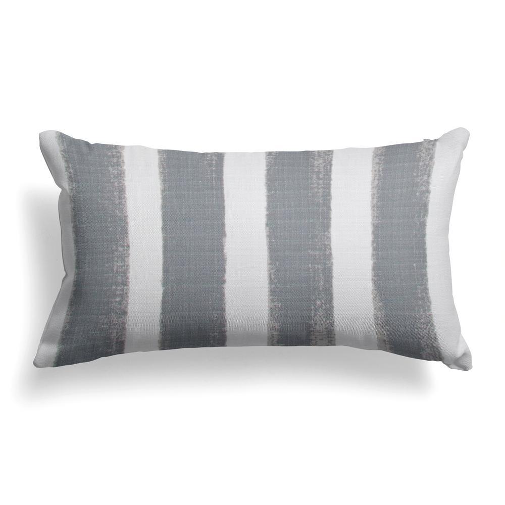 Caravan Grey Rectangular Lumbar Outdoor Pillow