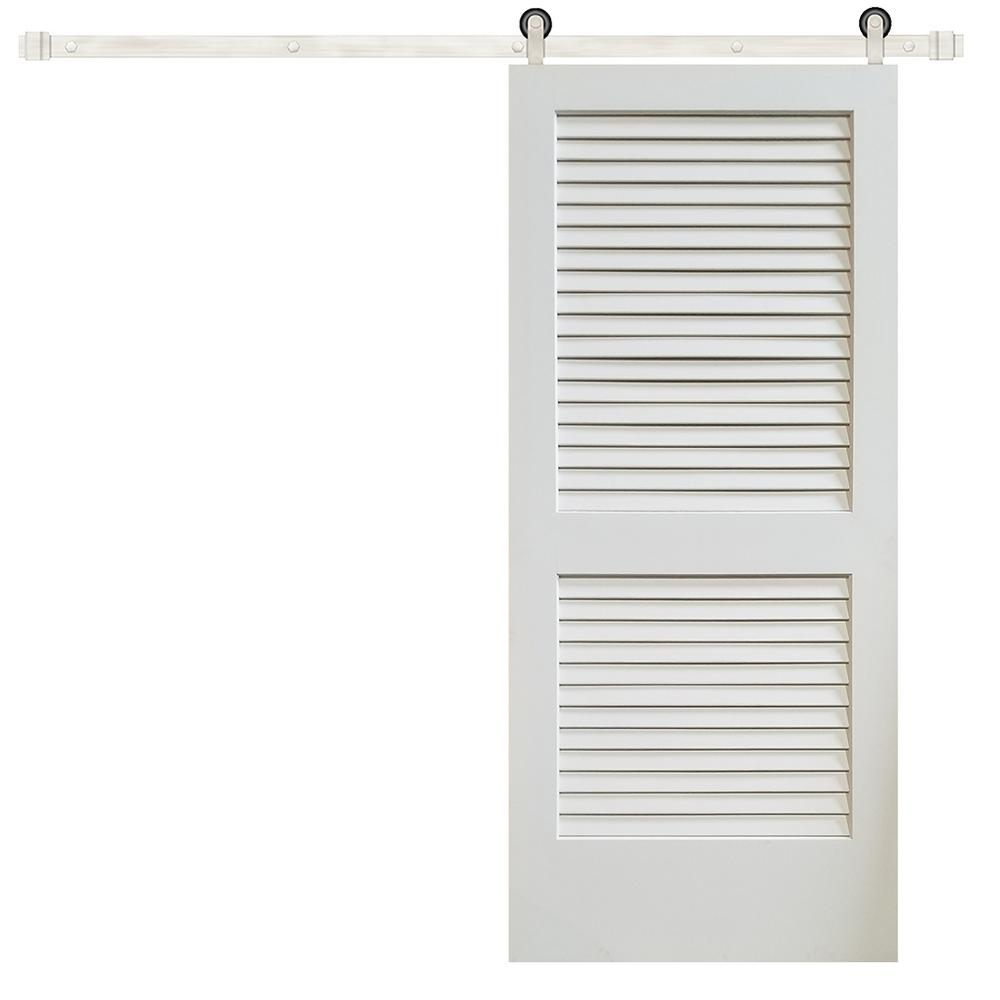 Pacific Entries 36 In X 84 In Plantation Louver 2 Panel