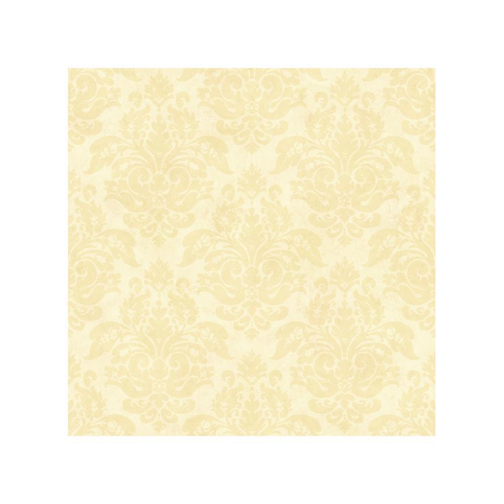Chesapeake Isabelle Sand Floral Damask Wallpaper Sample