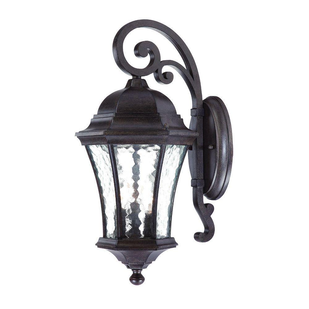 Acclaim Lighting Waverly Collection 3-Light Black Coral Outdoor Wall-Mount Light Fixture
