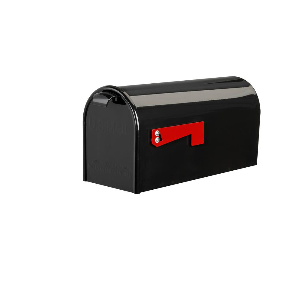 Good Directions Lazy Hill Farm Designs Black Post-Mounted Bristol Mailbox