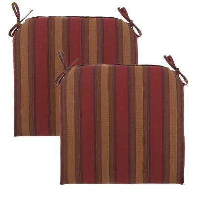 Red Tweed Rapid-Dry Deluxe Outdoor Seat Cushion (2-Pack)