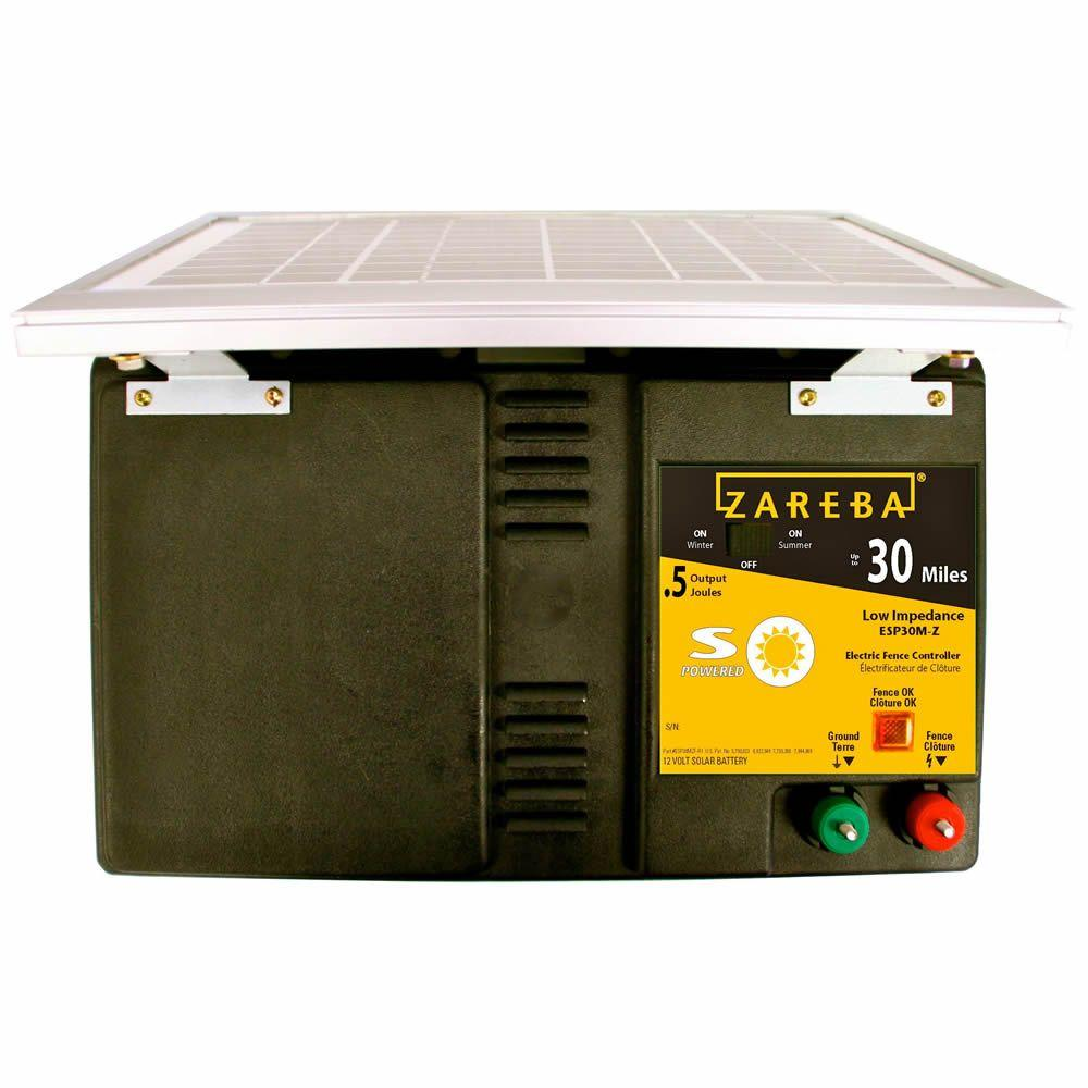 Zareba 30 Mile Solar Low Impedance Fence Charger Esp30m Z