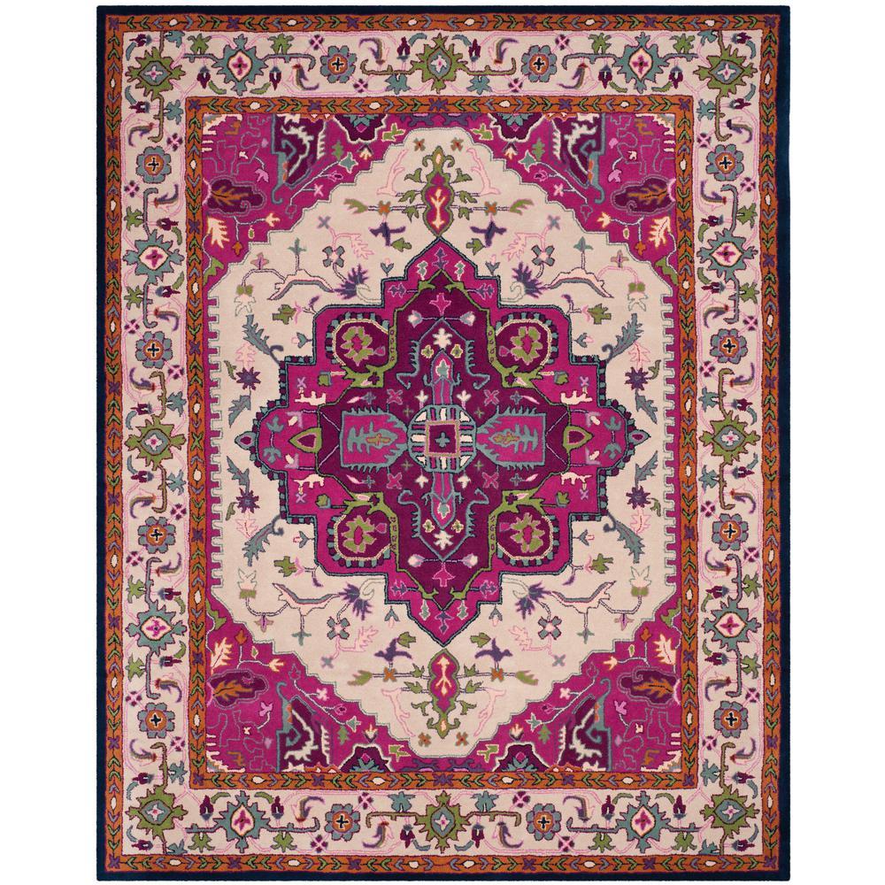 Safavieh Bellagio Ivory Pink 8 Ft X 10 Ft Area Rug