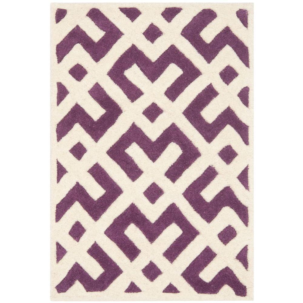 Chatham Purple/Ivory 2 ft. x 3 ft. Area Rug