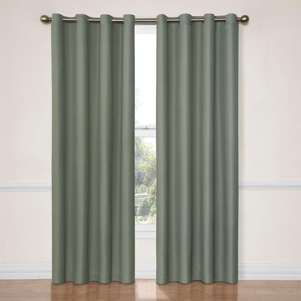 Eclipse Dane Blackout River Blue Curtain Panel, 63 in. Length (Price Varies by Size)