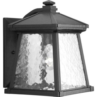Mac Collection 1-Light Black 12.25 in. Outdoor Wall Lantern Sconce