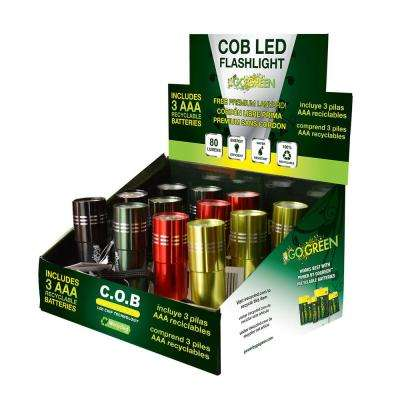 COB LED Flashlight Display (12-Piece)