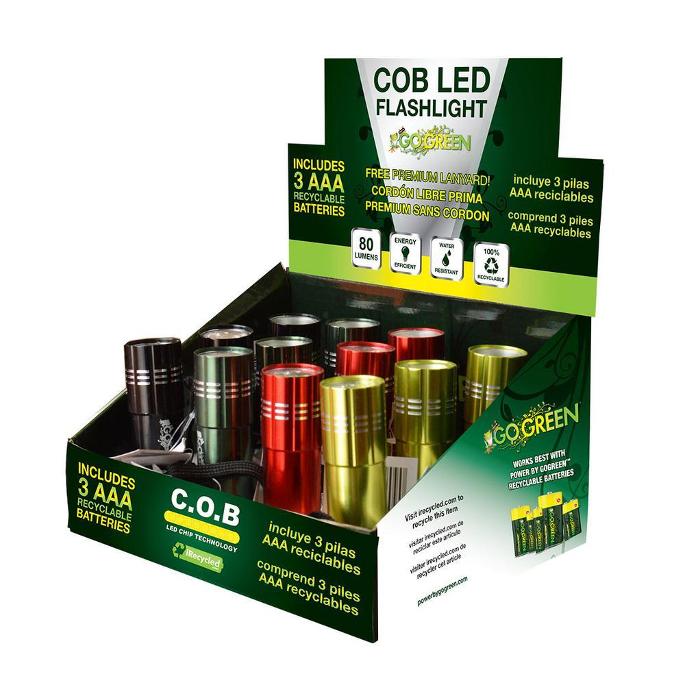 COB LED Flashlight Display (12-Piece)