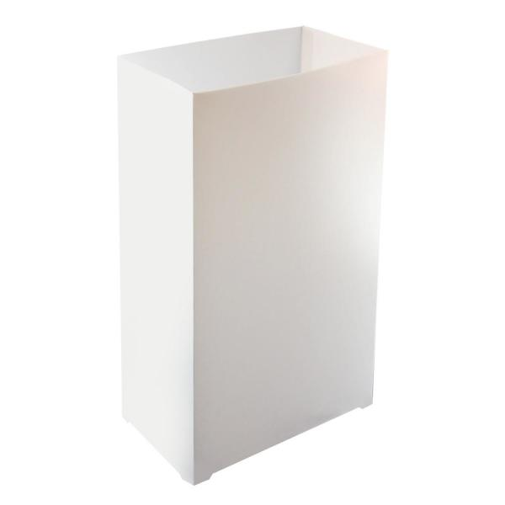 LUMABASE - Plastic Luminaria Lanterns in White (Set of 10)