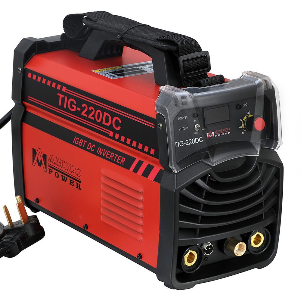 AMICO POWER Amico 220 Amp TIG Torch arc Stick DC Inverter Welder 110/230-Volt Dual Voltage Welding Machine New by AMICO POWER