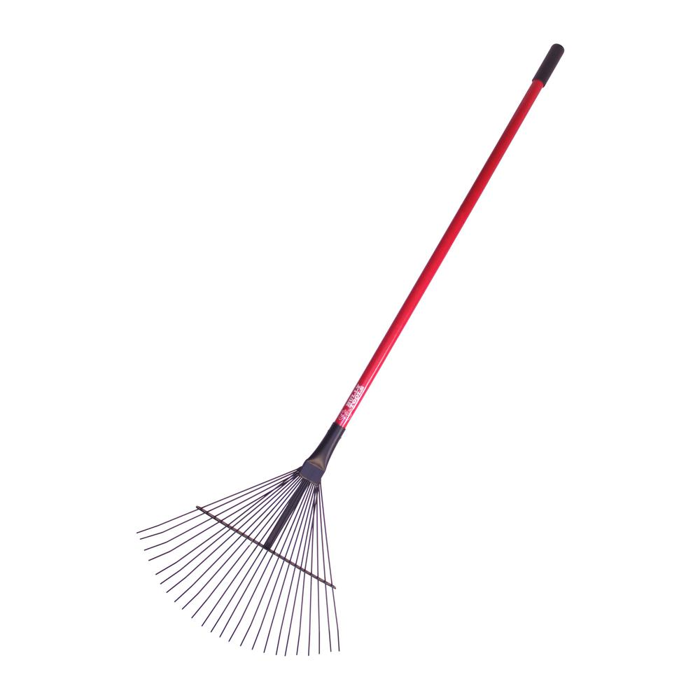 Bully Tools 24-Tine Leaf and Thatching Rake with Fiberglass Handle