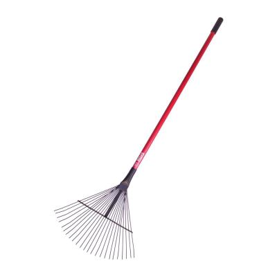 24-Tine Leaf and Thatching Rake with Fiberglass Handle