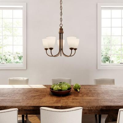Gather 5-Light Antique Bronze Chandelier with Shade