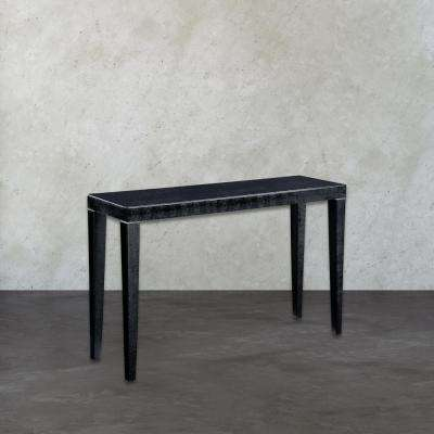 Boutique Black and Silver Console Table