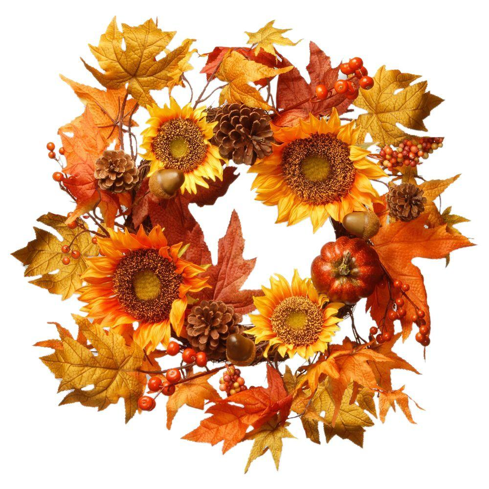 National Tree Company Harvest Accessories 22 in. Sunflower ...